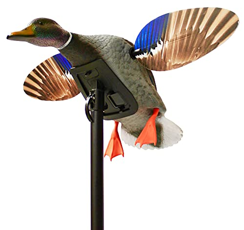 MOJO Elite Series Mini Mallard Spinning Wing Flexible Duck Decoy for Duck Hunting With Smoother, Quieter, Faster, and More User Friendly Decoy, Includes A Solid component Housing, Drake