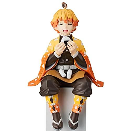 Gazaar 5.5in Kimetsu No Yaiba Zenitsu Agatsuma Action Figure, Anime Characters Figure Decor Anime Cartoon Model Cute Doll Statues Desktop Decoration Anime Figure Figurine Collection Toy
