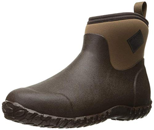 Muckster ll Ankle-Height Men's Rubber Garden Boots,Black/Otter,10 M US