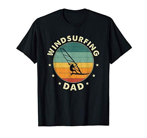 Hombre Papá Windsurfista Padre Camiseta