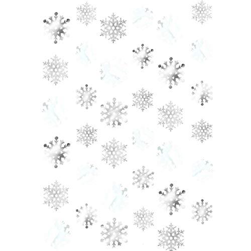 Amscan 672015 - Deko-Hänger Schneeflocke im Set, 6 Stück, Länge 213 cm, Snowflakes, für Weihnachten, Silvester