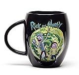 GB Eye Limited MGO0011 Taza de desayuno Rick & Morty, cermica, negro