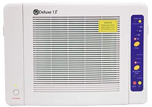 DXIII DELUXE13 Generador de Ozono Ionizador | Purificador de Aire Filtro hepa y carbón | Bombilla UV Ultravioleta Germicida