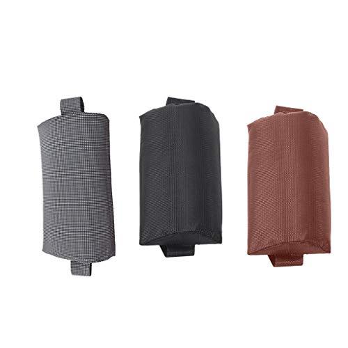 freneci 3Pcs Stoff Kopfkissen Kopfstütze Set für Patio Folding Recliner Abnehmbar