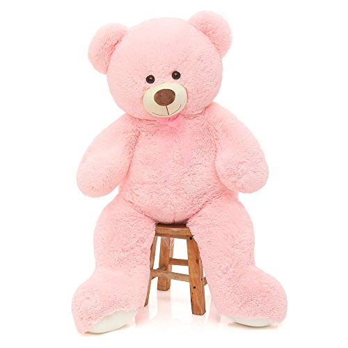 CYBIL HOME Giant Teddy Bear Soft Plush Bear Stuffed Animal for Girlfriend Kids,Pink,35 Inches