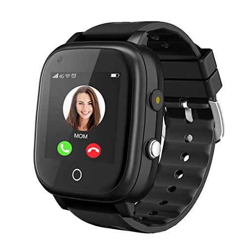 Montre intelligente 4G améliorée pour filles et garçons, étanchéité IP67, Wi-Fi, écran tactile, appels vidéo,...