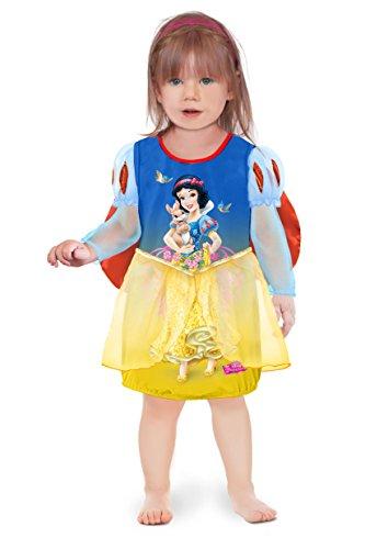 Ciao 11242.12-18 - Principesse Disney Vestito Baby Biancaneve con Mantellina, Blu/Giallo, 12-18 mesi