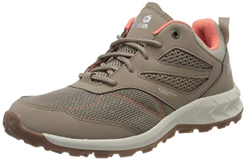 Jack Wolfskin Damen Woodland Vent Low W Cross-Trainer, Beige (Clay/Pink 5281), 41 EU