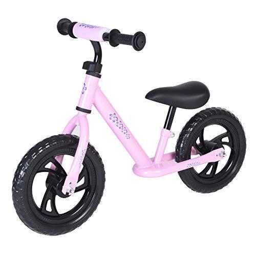 Vilano Rally Balance Bike Training No Pedal Push Bicycle, Pink