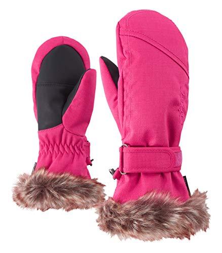 Ziener Mädchen LED MITTEN GIRLS glove junior Ski-handschuhe / Wintersport  warm, atmungsaktiv, rosa (pink), 7