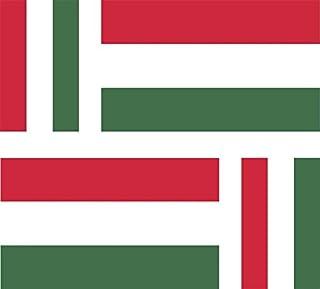 Akachafactory Aufkleber für Auto, Motorrad, Koffer, PC, Motiv: ungarische Flagge, 4Stück