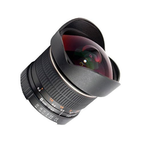SIOCORE 8mm f3,5objetivo ojo de pez respectivamente ultra objetivo gran angular para nikon f Bajonet cámaras de la serie