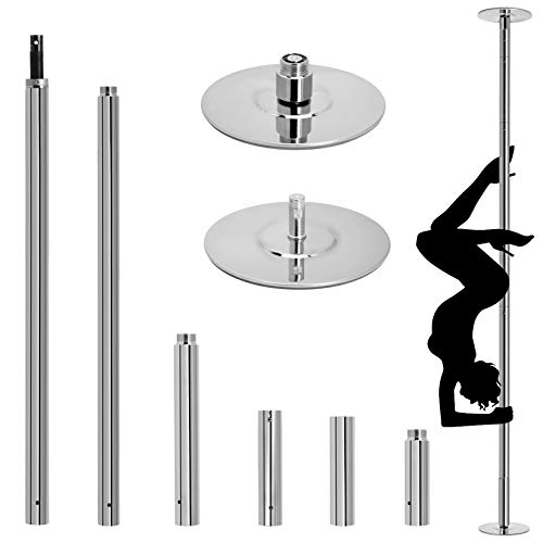 OFCOSO Professional Stripper Pole 45mm Spinning Dancing Pole with Adjustable Height 9.2FT Removable Dance Pole Kit for Exercise