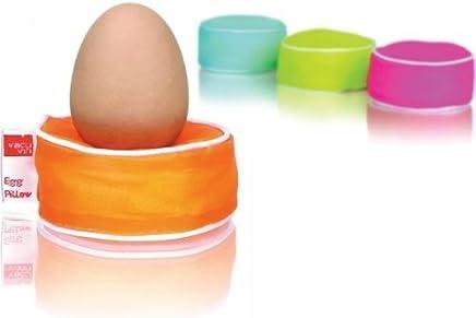 Preisvergleich für Designer - Eierbecher Set aus 4 bunten Eierkissen aus dem Hause vacu vin Designer - Eierbecher
