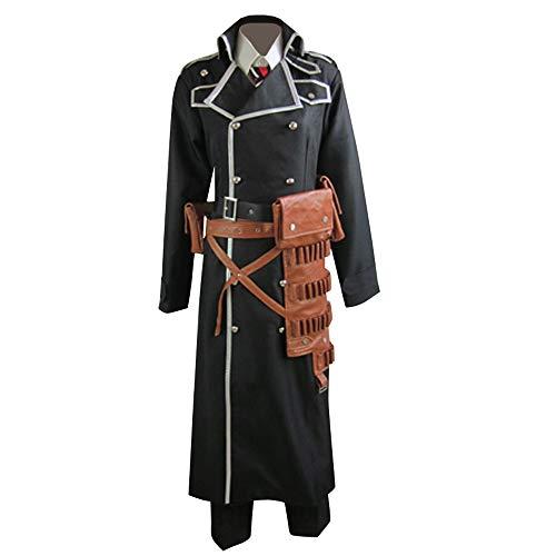 Ao No Blue Exorcist Yukio Okumura Black Cosplay Costume with Utility Belt (MaleXXL)