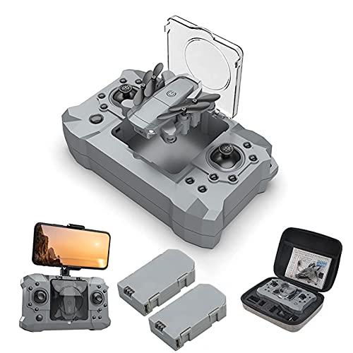 J-Clock Droni per adultiDrone con videocamera per Adulti HD WiFi FPV Drone Quadricottero RC Pieghevole con grandangolo a 120 °, modalità Volo Notturno con Luce a LED