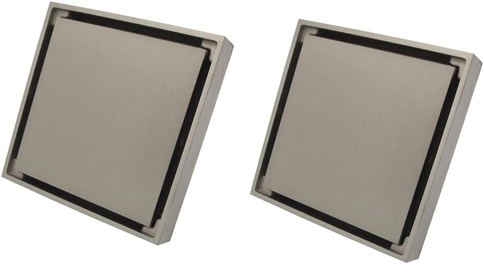 San Antonio Mall Shower Floor Drain 2Pcs Limited time for free shipping Brushed Square Nickel Balcon