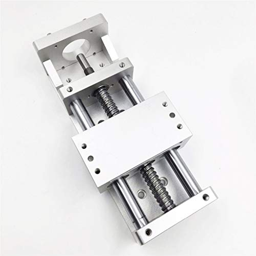 CHASH Linear Module Slide Table XYZ Axis Cross Slide Table Linear Platform SFU1605 Ball Screw 100MM 200MM Stroke, Suitable for CNC, 3D Printing, Engraving Machine Accessories ( Color : 100MM Stroke )