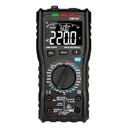 No-branded Digital-Multimeter 10000 Zähler DM100C True-RMS-Digitalmultimeter AC/DC-Spannung Stromwiderstand Kapazitätsfrequenz-Multimeter ZXLLNEUR