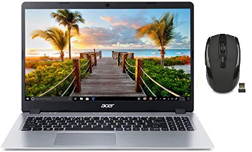 "2021 Acer Aspire 5 Slim 15.6"" FHD Laptop Computer, AMD Ryzen 3-3200U CPU, 8GB RAM, 256GB PCIe SSD, Backlit Keyboard, AMD Radeon Vega 3 Graphics, HD Webcam, Win 10S, Silver, 32GB SnowBell USB Card"