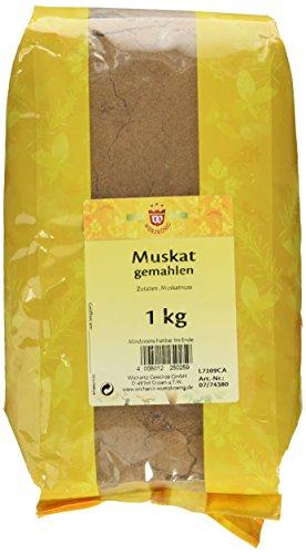 Wichartz Würzkönig Muskat aus ganzen Nüssen gemahlen, 1er Pack (1 x 1 kg)