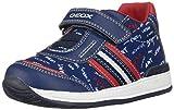 Geox B Rishon Boy B, Zapatillas para Bebés, Azul (Navy/Red C0735), 22 EU