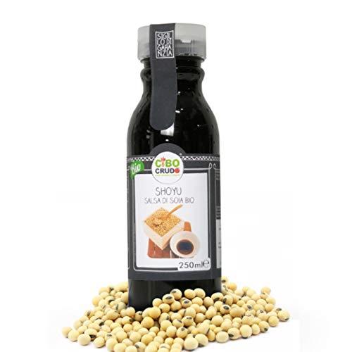CiboCrudo Shoyu Bio, la Vera Salsa di Soia, Ricetta Originaria di Oltre 2000 anni fa, Vegan, Fermentata 18-24 mesi, Naturalmente Priva di Glutine, Per Cucina Giapponese – 250 ml