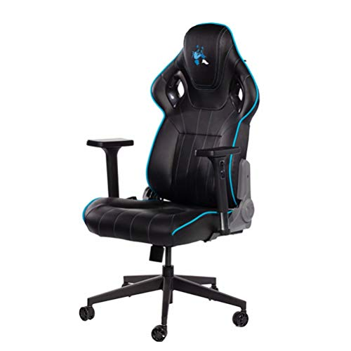 Gaming Chair, Office Chair - Ergonomische Gamingstoel Computerstoel met Lendensteunmassage, Beste Keuze Voor E-Sports-Spelers (Zwart)