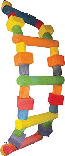 A & E Cage Company Hb149 m Happy Beaks Échelle en Bois Assortis Jouet pour Oiseau, 32 par 17,8 cm