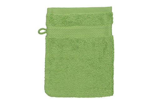Betz Gant de Toilette pour Visage Corps Gant de Toilette Taille 16x21 cm 100% Coton Premium Couleur Vert Pomme