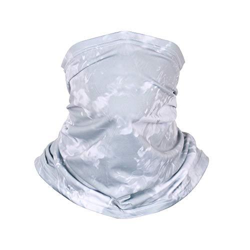GRDE Multifunktionstuch Herren Damen Atmungsaktiv Weich Schlauchschal Halstuch Super elastisch kühl Sonnenschutz Verschleißfest Bandanal Sturmhaube für Motorrad Laufen Wandern (grau)