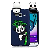 LAXIN Compatible with Samsung Galaxy J3 (2016) / J320 Case Silicone 3D Cute Pattern [Blue Panda]...