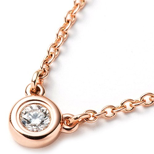 ティファニー TIFFANY&Co. ネックレス レディース ペンダント ダイヤモンド バイザヤード 0.07ct 16IN 18R ローズゴールド 28274521