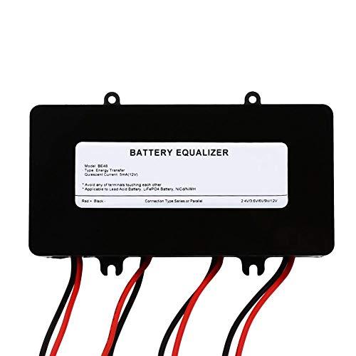 Fdit Battery Equalizer 48V Batterie Voltage Balancer Max 4 × 12V Batteriebank Solar System Battery Balancer Equalizer für Blei-Säure-Batterien Ladegerät MEHRWEG VERPAKUNG