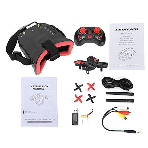 FPV Quadcopter, Micro FPV RC Racing Quadcopter mit 5.8G 40CH Kamera 3 Zoll FPV Brille VR Headset Drohne