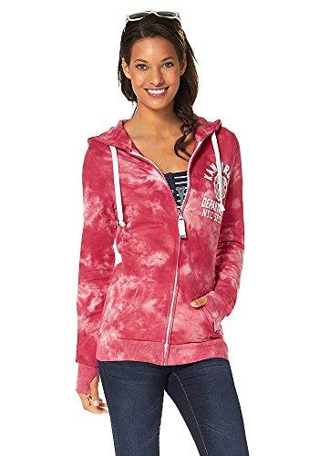 KangaROOS Damen Sweatjacke Sweat Jacke mit Kapuze Pink 36/38