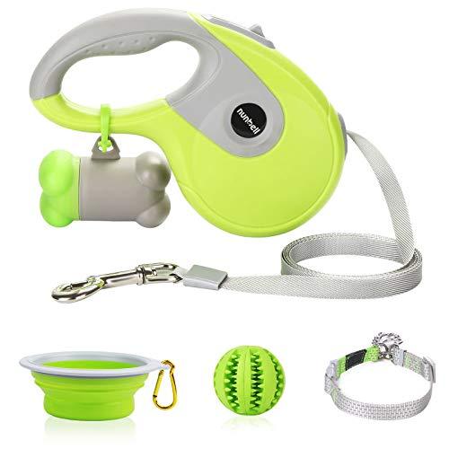 Nunbell Retractable Dog Leash,Heavy Duty 16ft Retracting Pet Leash with Free Bag...
