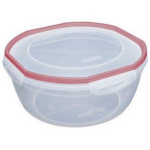 STERILITE Rocket Red Sterilite Plus Ultra Seal Latching Bowl, 4.7 quart