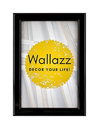 Wallazz Cornice PORTAFOTO in Legno da Tavolo E da Parete, Made in Italy, Stile Moderno Design, Dimensione 20X25 CM, Colore Nero. Piedino PORTAFOTO Incluso