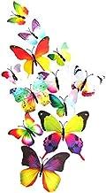 12 peças de adesivos de borboleta 3D DIY Mural Art Decalque de parede Artesanato Decoração de papel de parede (série Arco-...