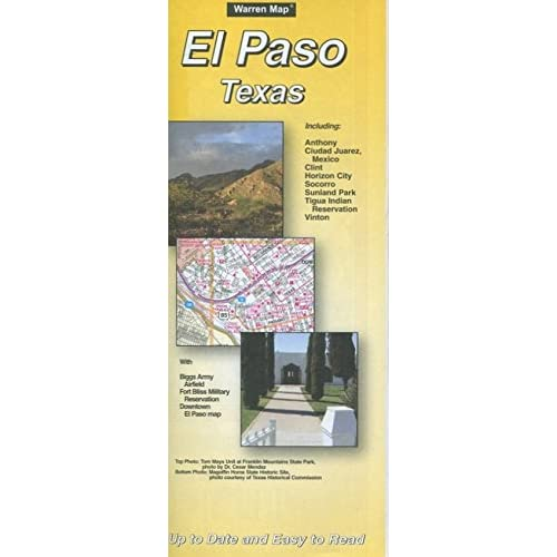 MAP OF EL PASO TEXAS /CITY /HUGE FOLDOUT /STREETS+++++