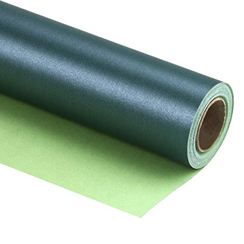 RUSPEPA Green Matte Wrapping Paper - 81.5 Sq Ft - Solid Color Pearly - Lustre Paper Perfect for Wedding,Birthday,Christmas,Baby Shower - 30 inches x 32.8 feet