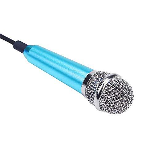Mikrofon Mini Telefon Mit Halterung Mikrofon Blau Telefon Mikrofon Mini Telefon Mikrofon Mini Karaoke Kondensator Mikrofon Für Telefon Computer Mini PhoneMic