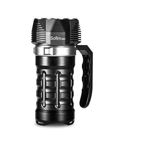 Luz de Buceo 6000lm Potente Luz de Buceo 3 * SST40 LED Linterna de Buceo LED de la antorcha subacuática 4 Modos Interruptor de Control magnético para Bucear (Color : Black, Size : Without battrey)