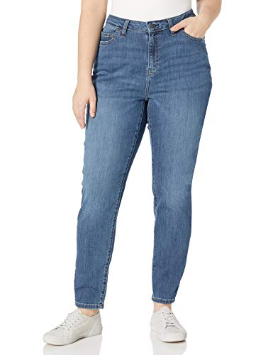 Amazon Essentials Plus Size Skinny Jean Jeans, Lavaggio Medio, 14 Regular