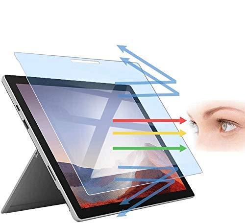 PaceBid Anti Luce Blu Vetro Temperato Compatibile con Microsoft Surface PRO 7/6/5/4 12.3, [ Blocca L'eccessiva Luce Blu Nociva & IRaggi UV ] [ Anti Affaticamento degli Occhi ] [ Face ID Completare ]