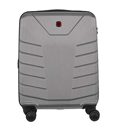 Wenger 610127 PEGASUS 39 Litre Luggage Carry On, Strong polycarbonate shell with Travel Sentry Approved combination lock in Grey