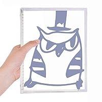 漫画の帽子の鳥保護動物のペットの恋人 硬質プラスチックルーズリーフノートノート