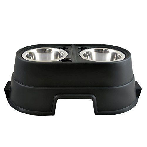 OurPets Comfort Diner Elevated Dog Food Dish (Raised Dog Bowls Available in 4 inches, 8 inches and 12 inches for Large Dogs, Medium Dogs and Small Dogs), 8-inch