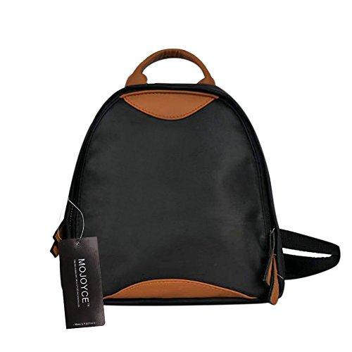 Aprigy - Moda PU + Oxford Hit Color Mochila Casual Viaje Escuela Bolsas para Adolescentes Niñas Mujer Mochila Pequeña Bolsa de Hombro Mochila